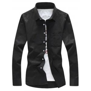Long Sleeve Chest Pocket Shirt