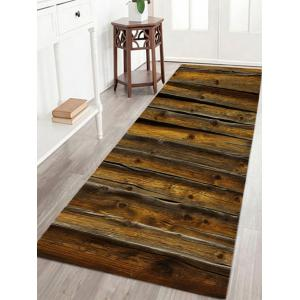 Water Absorbent Vintage Wood Grain Bath Rug