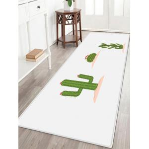 Cactus Flower Pattern Anti-skid Water Absorption Area Rug - Green - W24 Inch * L71 Inch