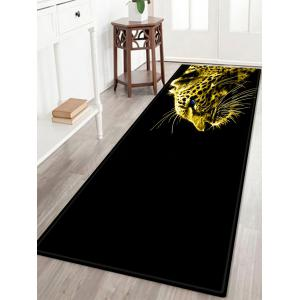 Leopard Pattern Indoor Outdoor Area Rug - Black - W24 Inch * L71 Inch