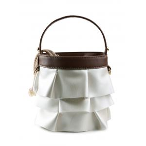 Ruffles PU Leather Handbag