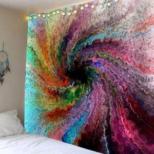 Psychedelic Vortex Print Waterproof Wall Hanging Tapestry