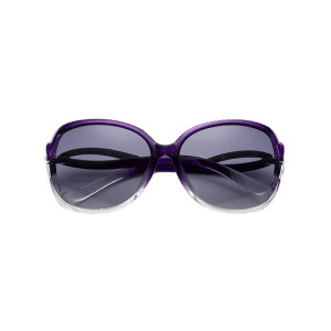 Hollow Cut Reflective Anti UV Sunglasses - PURPLE