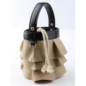 Ruffles PU Leather Handbag -