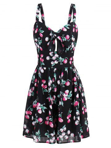 Trendy Short Printed Flare Summer Dress