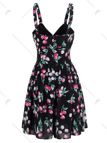Trendy Short Printed Flare Summer Dress - L COLORMIX Mobile