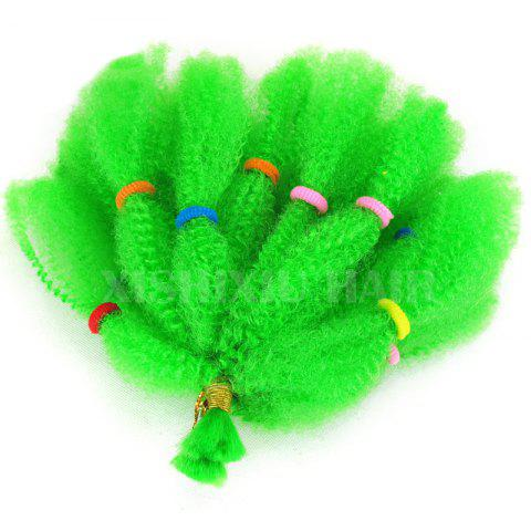 Long Fluffy Afro Kinky Cheveux Synthétiques Bouclés Vert