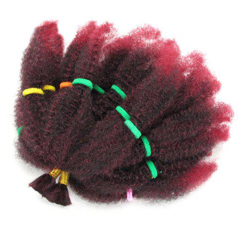 Affordable Long Fluffy Afro Kinky Curly Synthetic Hair Bulk BORDEAUX
