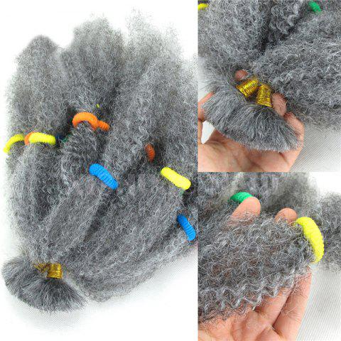 Shop Long Fluffy Afro Kinky Curly Synthetic Hair Bulk GRAY