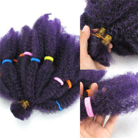 Long Fluffy Afro Kinky Cheveux Synthétiques Bouclés