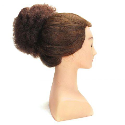Shaggy Afro Kinky Curly Heat Resistant Synthetic Hair Bun - Deep Brown