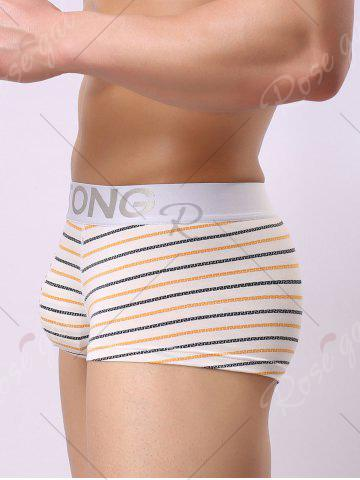 Outfit Elastic Waist Striped Pattern Boxers - M ORANGE Mobile