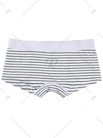 Outfit Elastic Waist Striped Pattern Boxers - 2XL BLACK Mobile