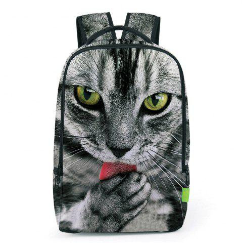 Sale Animal 3D Print Backpack GRAY
