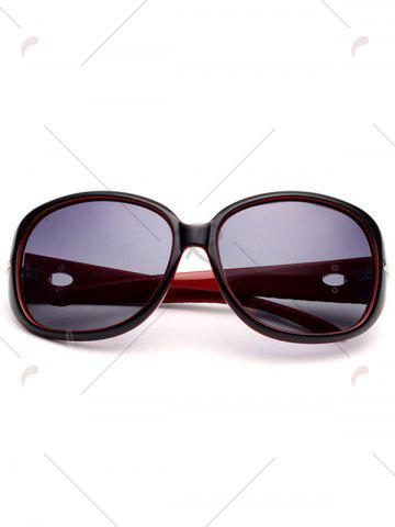 Latest Rhinestone Decoration Anti UV Sunglasses - BLACK RED  Mobile