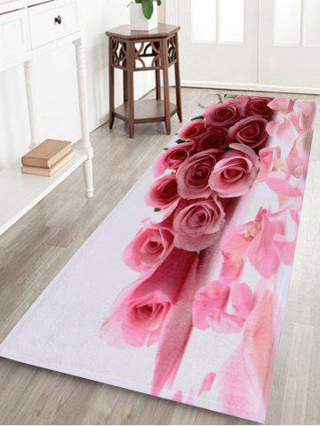 Rose Water Absorption Coral Velvet Area Rug - Pink - W24 Inch * L71 Inch