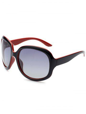 Affordable UV Protection Sunproof Polarized Sunglasses  - BLACK RED  Mobile