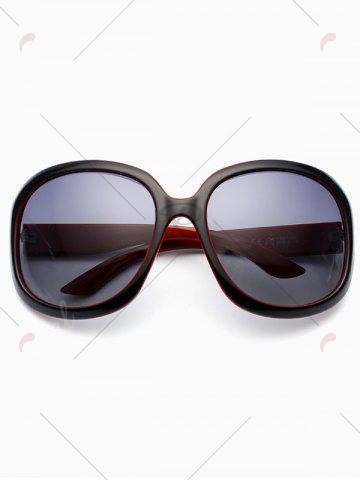 Trendy UV Protection Sunproof Polarized Sunglasses  - BLACK RED  Mobile