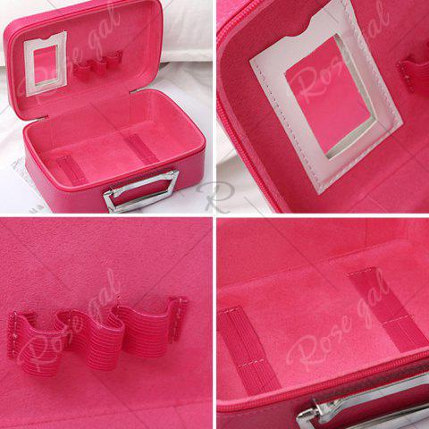 Shop Lip and Lipstick Print Makeup Box - ROSE RED  Mobile