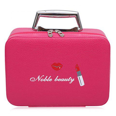Outfit Lip and Lipstick Print Makeup Box - ROSE RED  Mobile