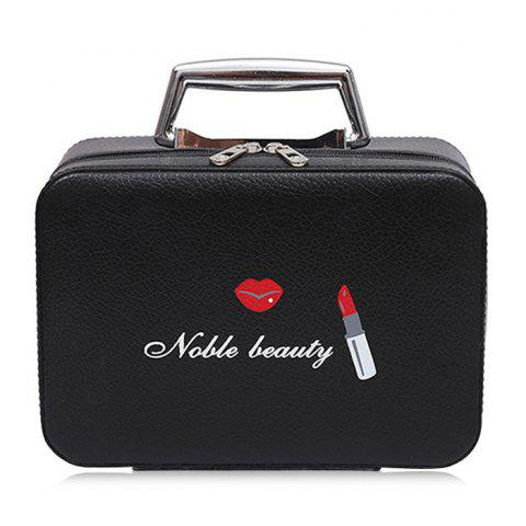 Shops Lip and Lipstick Print Makeup Box