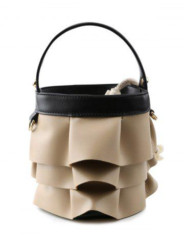 Shop Ruffles PU Leather Handbag