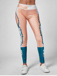 Grid Graphic Ankle Length Leggings