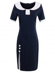 Peter Pan Collar Sheath Tight Dress