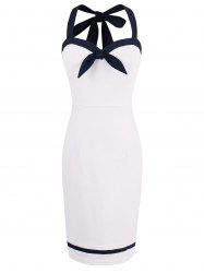 Mini Halter Sleeveless Sheath Dress