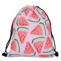 Drawstring Fruit Printed Backpack