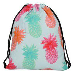 Drawstring Fruit Printed Backpack - MULTI