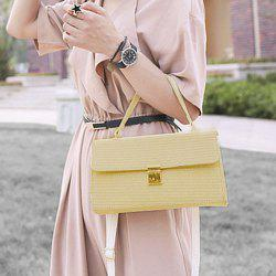 Woven Straw Cross Body Handbag