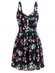 Short Printed Flare Summer Dress - COLORMIX