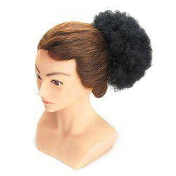 Shaggy Afro Kinky Curly Heat Resistant Synthetic Hair Bun - BLACK
