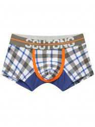 U Convex Pouch Checked Trunks - GRAY