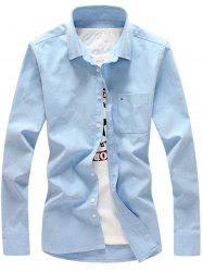 Chest Pocket Long Sleeve Button Down Shirt