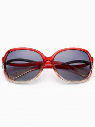 Hollow Cut Reflective Anti UV Sunglasses - WINE RED