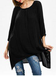 Scoop Neck Oversized Tunic