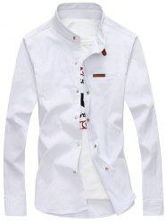 Mandarin Collar Snap Button Shirt