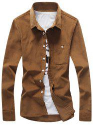 Chest Pocket Button Down Corduroy Shirt