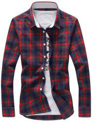 Chest Pocket Button Down Checked Shirt