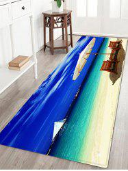 Beach Holiday Sea Pattern Anti-skid Water Absorption Area Rug