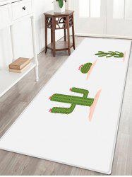 Cactus Flower Pattern Anti-skid Water Absorption Area Rug