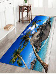 Beach Hammock Elephant Pattern Anti-skid Water Absorption Area Rug