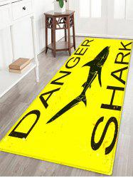 Danger Shark Pattern Anti-skid Water Absorption Area Rug