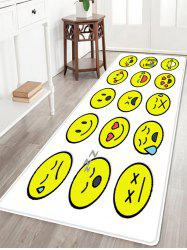Smile Face Emoticon Pattern Anti-skid Water Absorption Area Rug