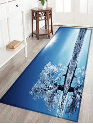 Beach Tree Pattern Anti-skid Water Absorption Area Rug