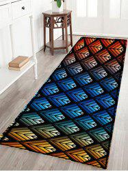 Colorful Ombre Pattern Anti-skid Water Absorption Area Rug