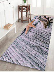 Starfish Coral Fleece Room Entrance Floor Mat