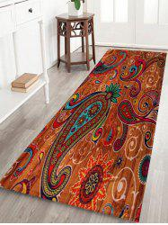 Paisley Pattern Door Entrance Coral Fleece Rug